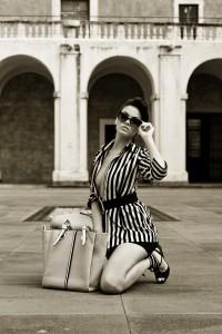PH: Antonio Maliadò. Workshop di Scatto Monocromatico by Harim Accademia Euromediterranea e ph. Michele Maccarrone. Fashion designer Alessandra Cacioppo, make-up Federica Rao, model Debora by Castdiva.